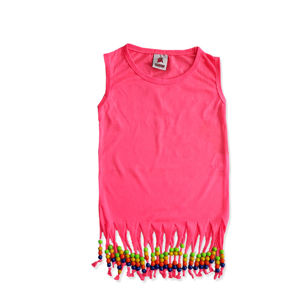 GIRL'S TASSEL DRESS | TEXMANIA-(2Y-10Y)