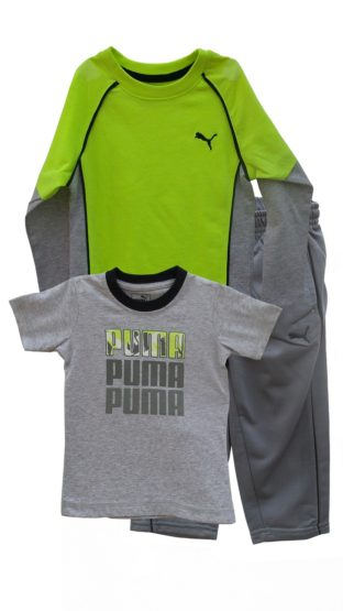 BOYS PUMA 3 PIECES SET-PARROT (12M-6YEARS)