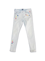 GIRL'S EMBROIDERY FLORAL JEANS | GAP-(7Y-14Y)