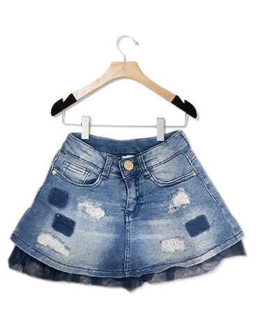 GIRLS RIPPED DENIM SKIRT  |  BLUKIDS -(2Y-9Y)