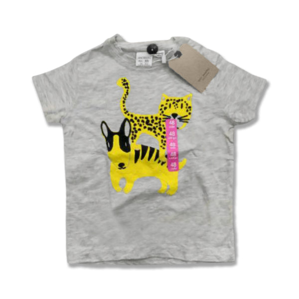 BOY'S ANIMAL LOVE TEE BY ZARA- GREY (1-4)YRS