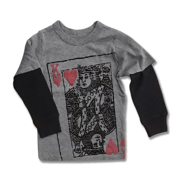 BOYS KING OF NAUGHTINESS TEE BY GP(12M-5YRS)