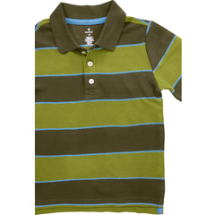BOY'S GREEN STRIPE POLO | OLD NAVY