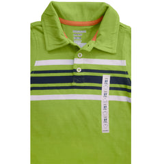 BOY'S STRIPE GREEN POLO | OLD NAVY-(12M-5Y)
