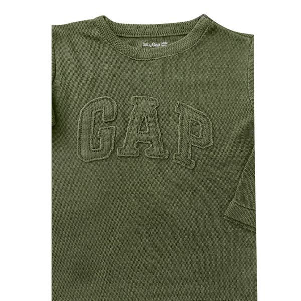 BOYS SIGNATURE APPLIQUE TEE BY GAP (12M-5YRS)GREEN