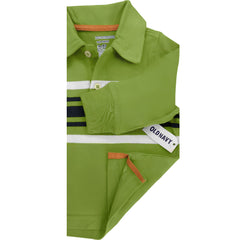 BOY'S GREEN STRIPE POLO | OLD NAVY-(6M-5Y)