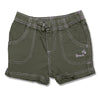 GIRL'S DESERT GREEN COTTON BEACH SHORTS | OVS-(9M-36M)