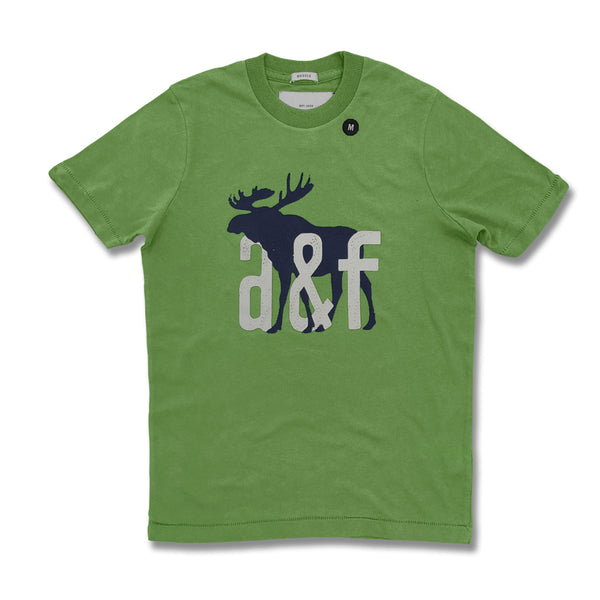 BOY'S A&F SIGNATURE PRINTED TEE – (GREEN)