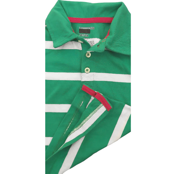 BOY'S GREEN BOLD STRIPE POLO | ON-(12M-5Y)