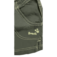 GIRL'S GREEN COTTON BEACH SHORTS | OVS-(9M-36M)