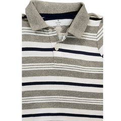 BOY'S GREY STRIPE POLO | OLD NAVY-(12M-5Y)