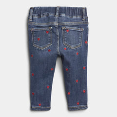 BABY EMBROIDERED HEART JEGGINNGS | GAP