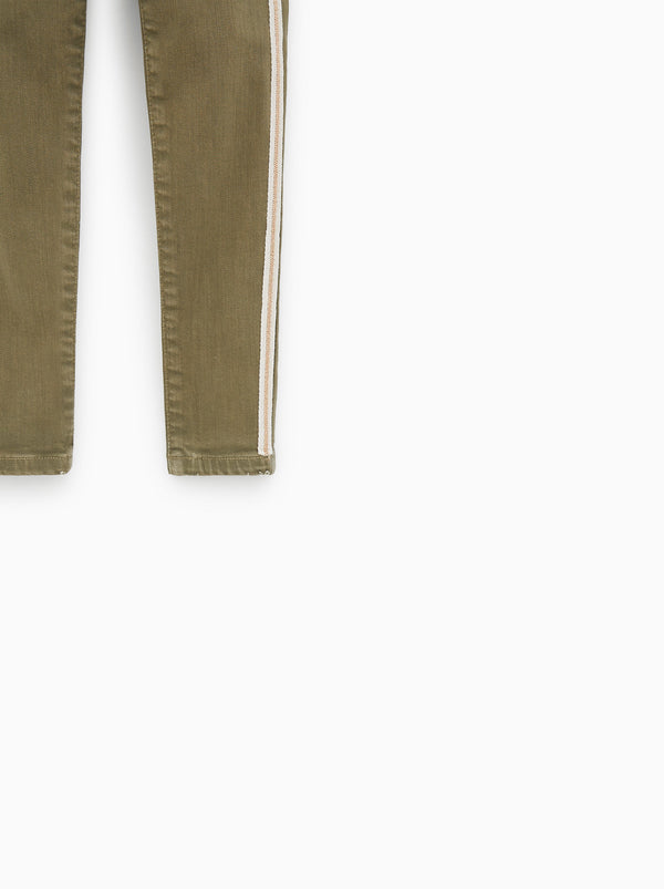 GIRL'S SPARKLY SIDE STRIPE JEANS | ZARA-(6Y-12Y)