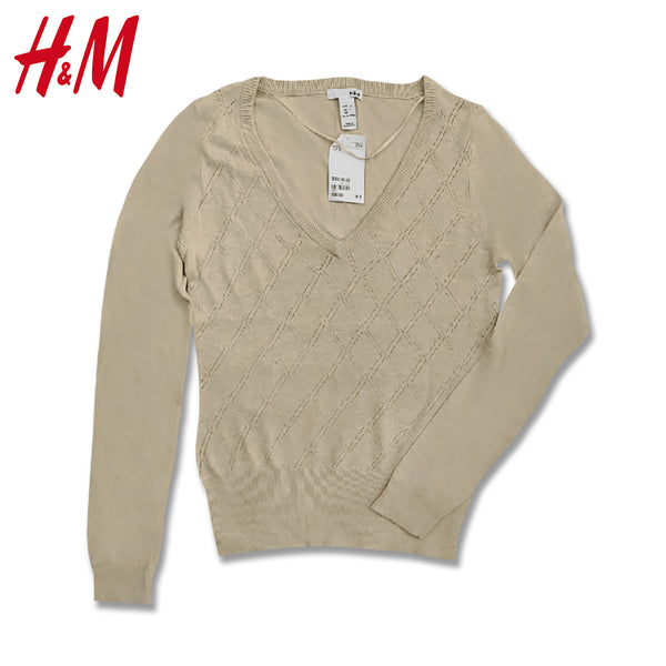 LADIES OXFORD TEXTURE SWEATER | H.M