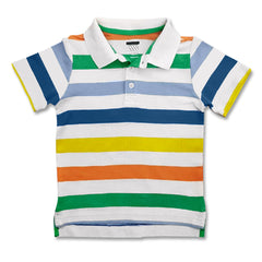 BOY'S MULTI STRIPE PIQUE POLO | OLD NAVY-(12M-5Y)