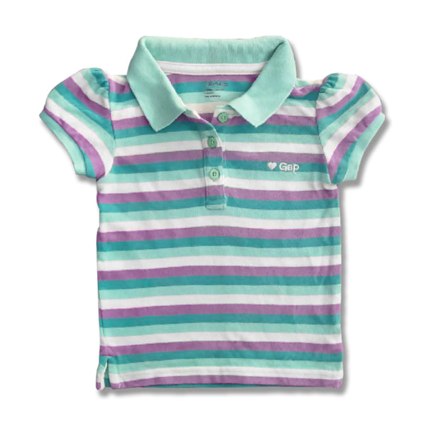 GIRL'S EMB HEART STRIPE POLO | GAP-(6M-4Y)