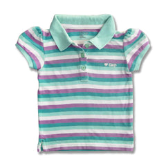 GIRL'S EMB HEART STRIEP POLO | GAP-(6M-4Y)