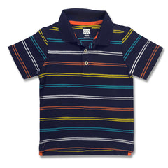 BOY'S NAVY STRIPE POLO |ON-(12M-5Y)