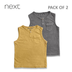 BOY'S COOL VESTS PACK OF 2| NEXT-(18M-4Y)