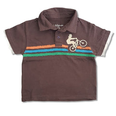 BOY'S BICYCLE STRIPPED POLO | KIDS KORNER-(2Y-16Y)