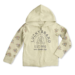 GIRL' S B-GRADE FLORAL HOODIE | LUCKY BRAND-(4Y-16Y)