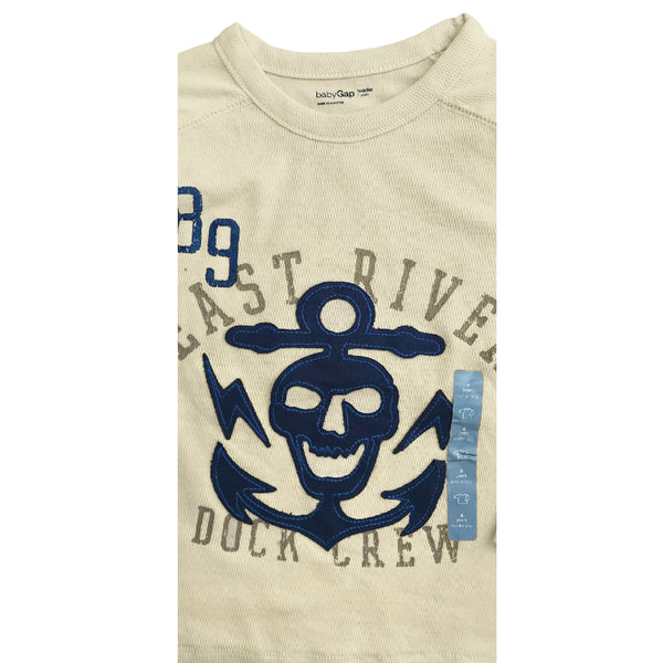 BOYS EAST RIVER DOCK CREW TEE BY GAP (12M-4YRS)