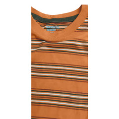 BOY'S ORANGE STRIPPED TEE | OLD NAVY-(6M-4Y)