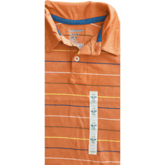 BOY'S ORANGE STRIPE POLO | OLD NAVY-(18M-5Y)