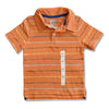BOY'S ORANGE STRIPE POLO | ON-(18M-5Y)