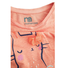 GIRL'S CAT FACE TEE | MOTHERCARE-(2Y-8Y)