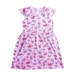 GIRL'S FLORAL SLIM FIT FROCK | H&M-(2Y-10Y)