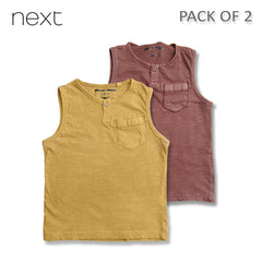 BOY'S COOL VESTS PACK OF 2| NEXT
