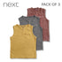 BOY'S COOL VESTS PACK OF 3| NEXT-(6M-6Y)