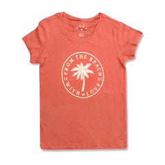 GIRL'S BEACH LOVE TEE | ROXY-(8Y-14Y)