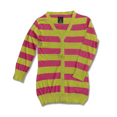 LADIES STRIPE CARDIGAN | REACT
