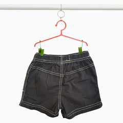 Girl's Black Cotton Beach Short | OVS