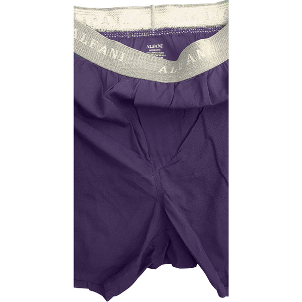 MEN'S B-GRADE PURPLE PLAIN WOVEN BOXER | ALFANI