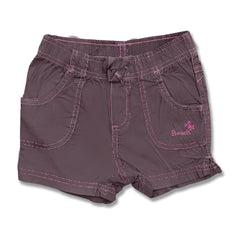 GIRL'S DARK PURPLE COTTON BEACH SHORTS | OVS-(9M-36M)