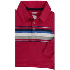 BOY'S RED STRIPE POLO | OLD NAVY-(6M-5Y)
