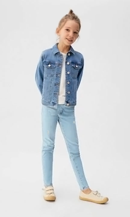 GIRL'S RIPPPED SKINNY JEANS | GAP-(6Y-18Y)