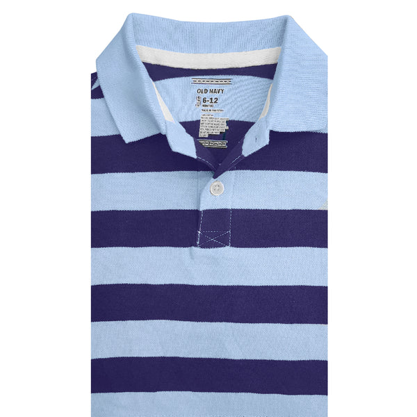 BOY'S SKY NAVY STRIPPER POLO | OLD NAVY