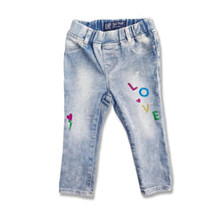 GIRL'S GLITTER LOVE JEANS | GAP