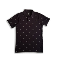 MENS SKELETON BLACK POLO|OLD NAVY