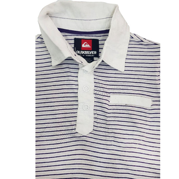 BOY'S WHITE STRIPE POLO | QUICK SILVER