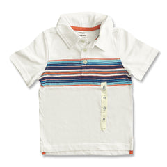 BOY'S WHITE STRIPE POLO | OLD NAVY-(2Y-5Y)