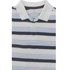 BOY'S WHITE-NAVY STRIPE POLO BY ON (6M-3YRS)