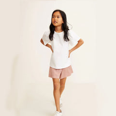 GIRL'S GATHERED SLEEVE T-SHIRTS | MANGO-(4Y-14Y)