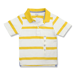 BOY'S YELLOW STRIPE POLO | OLD NAVY-(12M-5Y)