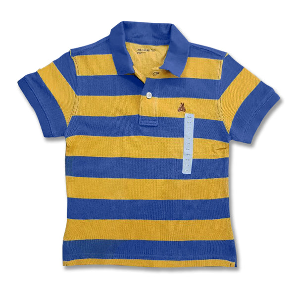 BOYS TEDDY BEAR STRIPE POLO| GAP-(18M-5Y)