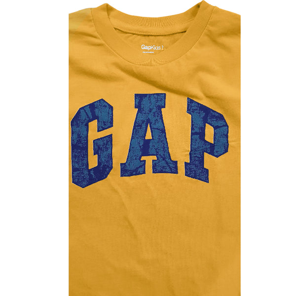BOY'S SIGNATURE GAP PRINT HANG DOWN TEE – YELLOW (12-13)YRS